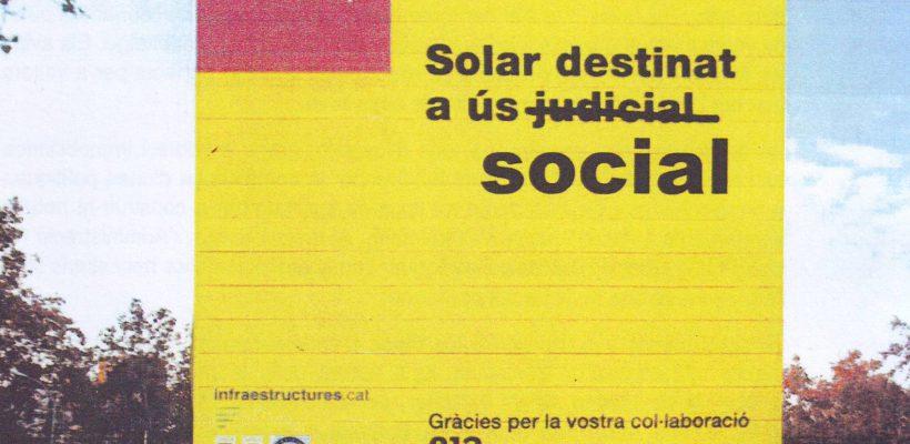 Volem el Solar dels Jutjats